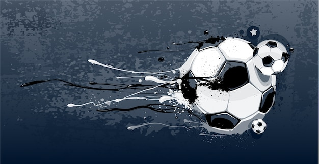 Fondo de graffiti de fútbol vector gratuito
