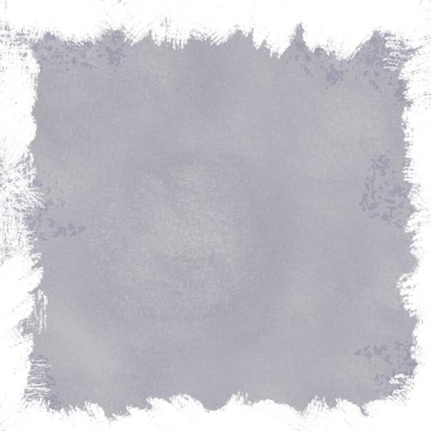 Fondo gris grunge con borde blanco vector gratuito