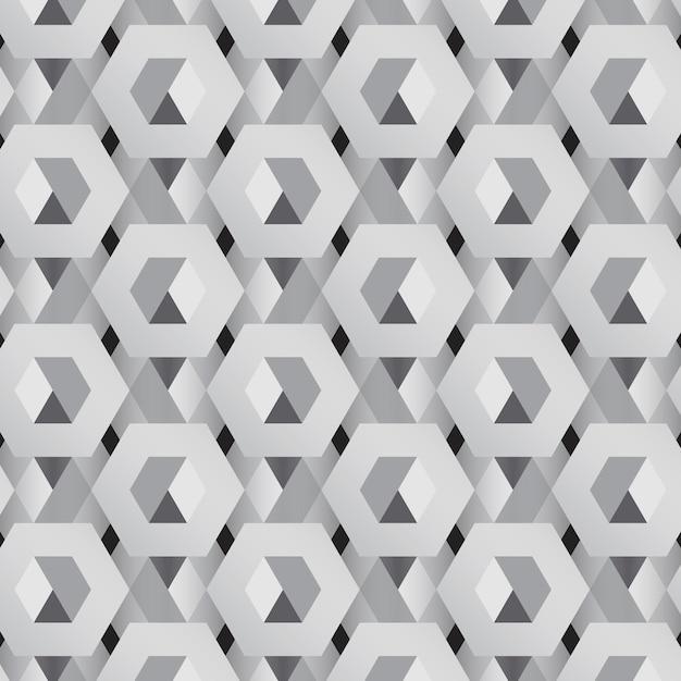 Fondo gris patrón hexagonal 3d vector gratuito