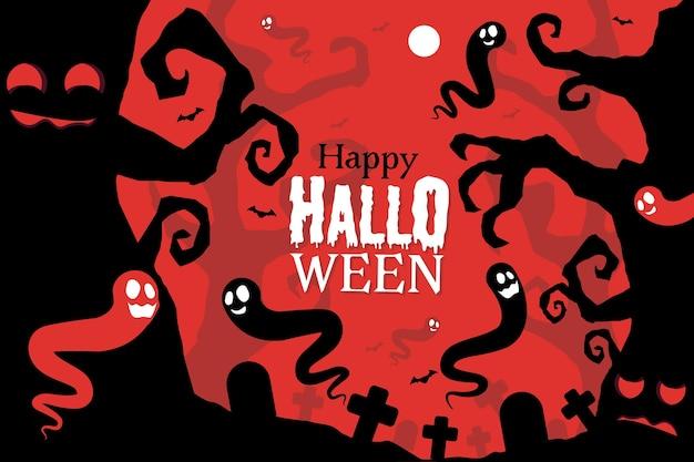 Fondo de halloween dibujado a mano vector gratuito