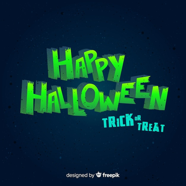 Fondo de halloween con lettering vector gratuito