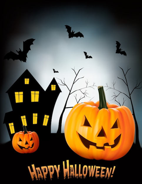 Fondo de halloween Vector Premium