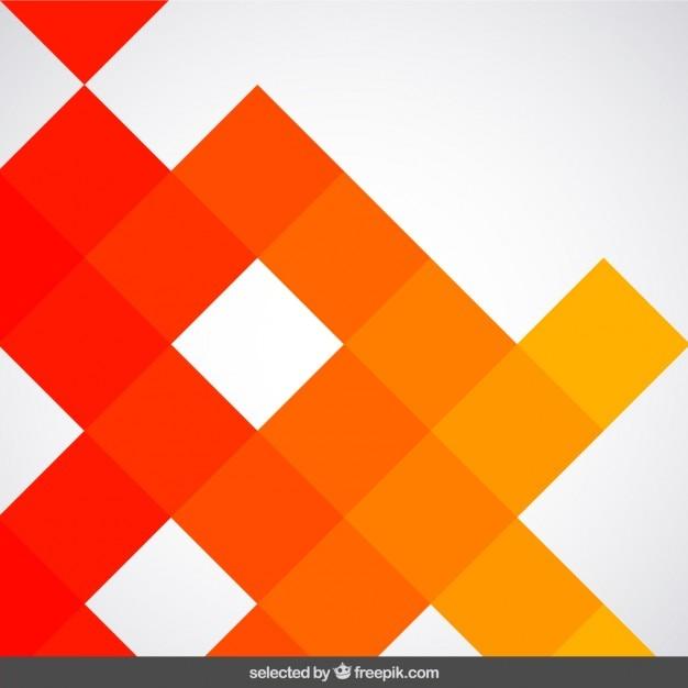 Fondo Hecho Con Cuadrados De Color Naranja