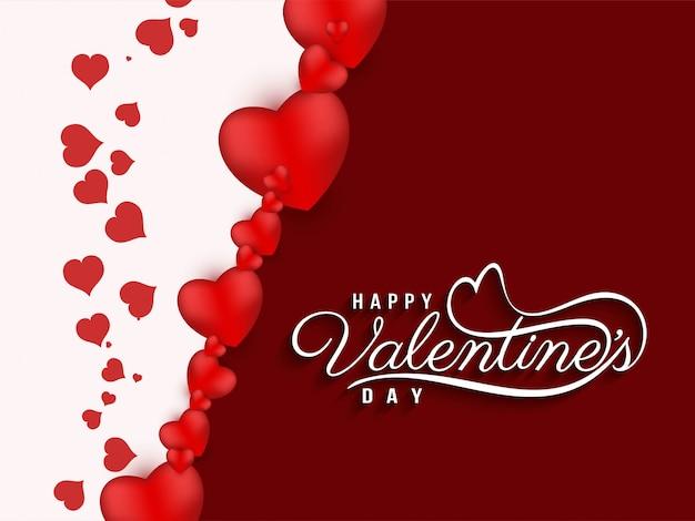 Fondo hermoso abstracto feliz día de san valentín vector gratuito