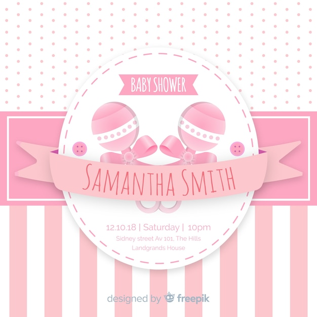 Fondo hermoso de baby shower vector gratuito