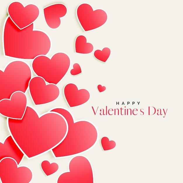 Fondo hermoso día de san valentín corazones dispersos de color rosa ...