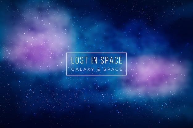 Fondo hermoso de la galaxia vector gratuito