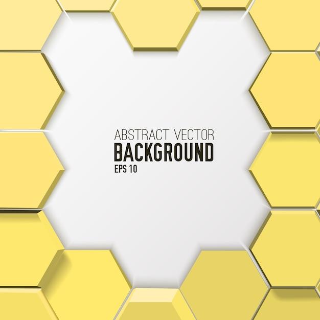 Fondo hexagonal abstracto de mosaico de luz vector gratuito