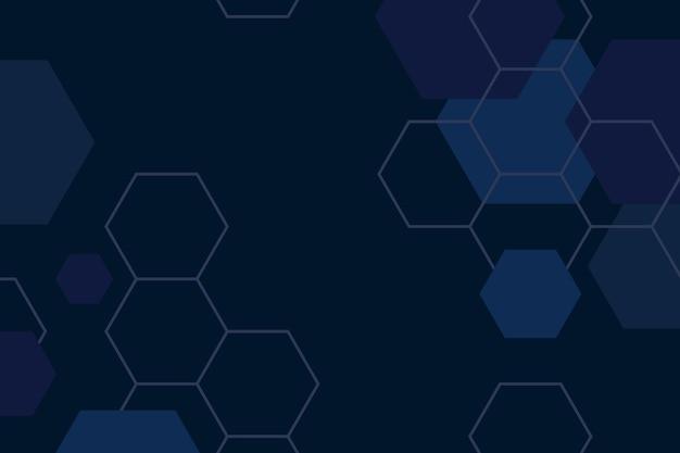 Fondo hexagonal vector gratuito