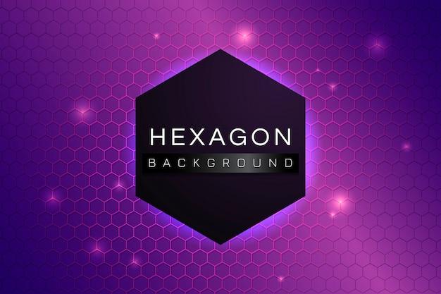 Fondo de hexágono estampado vector gratuito