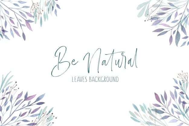 Fondo de hojas naturales vector gratuito