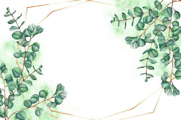Fondo de hojas ornamentales Vector Premium