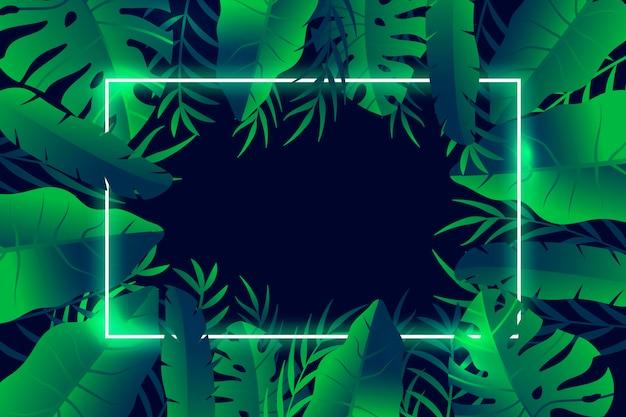 Fondo de hojas tropicales para zoom vector gratuito