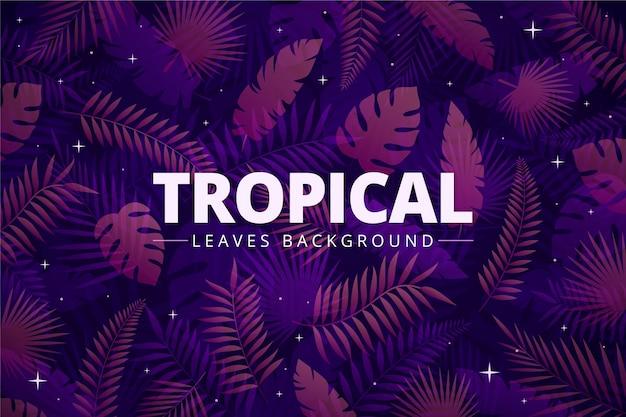 Fondo de hojas tropicales vector gratuito