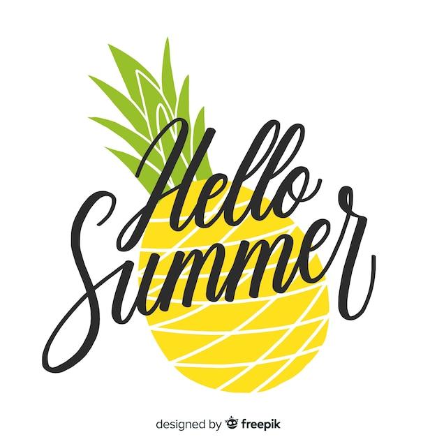 Fondo de hola verano Vector Premium