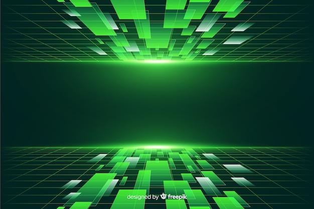 Fondo de horizonte futurista vector gratuito