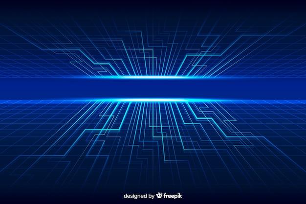 Fondo del horizonte tecnológico futurista vector gratuito