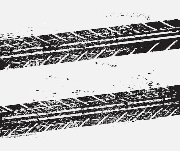Fondo de huellas de neumáticos sucios Vector Premium