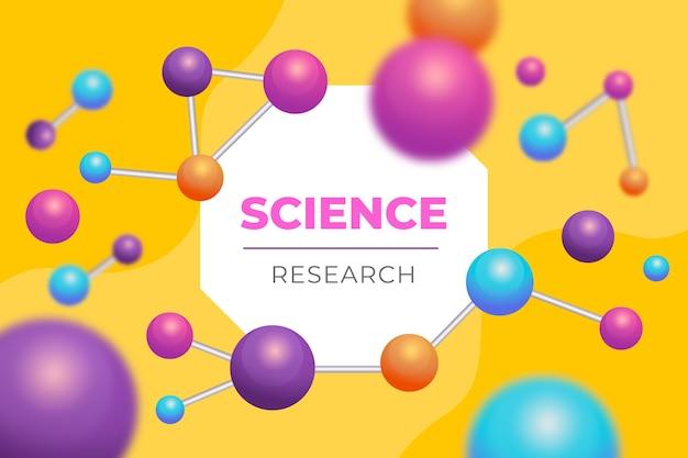 Fondo ilustrado de moléculas realistas vector gratuito