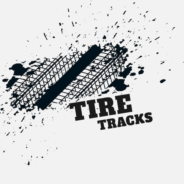 Fondo de impresión de marca de neumático de grunge vector gratuito