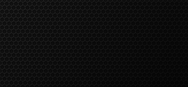 Fondo industrial del panal negro. Vector Premium