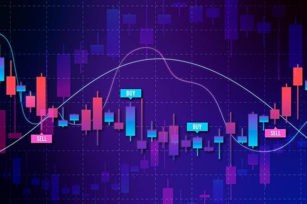 Fondo de infografía de comercio de divisas vector gratuito