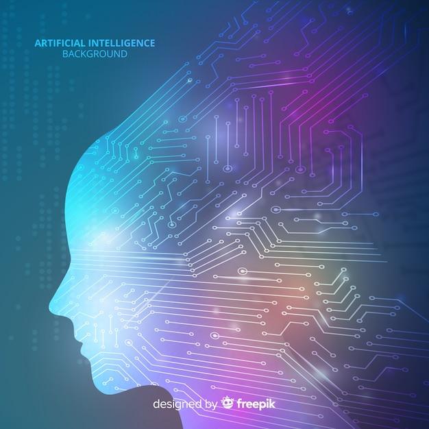 Fondo inteligencia artificial vector gratuito