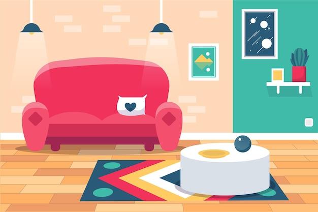 Fondo interior de casa para videoconferencia vector gratuito