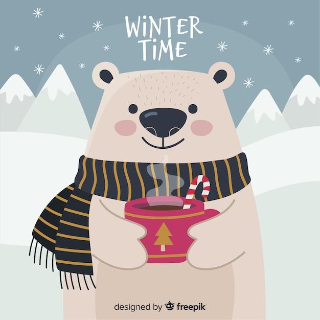 Fondo de invierno vector gratuito