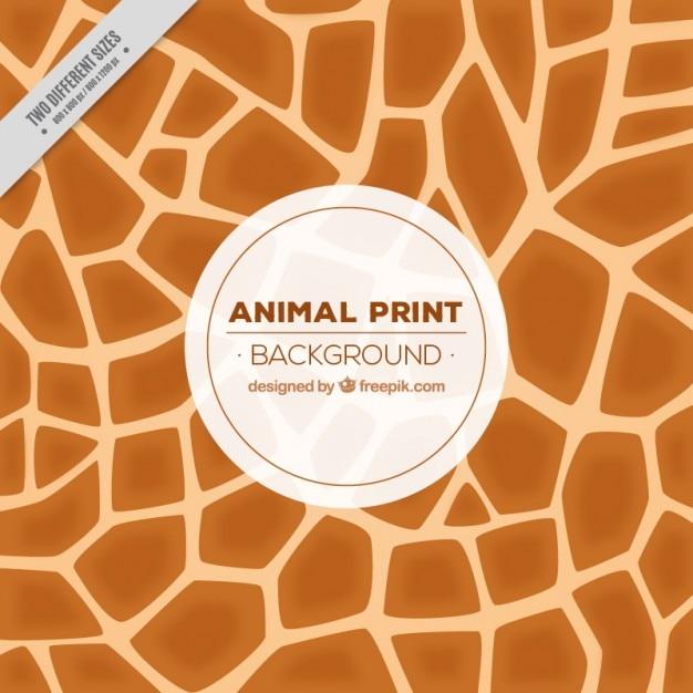 Fondo de jirafa con formas abstractas vector gratuito