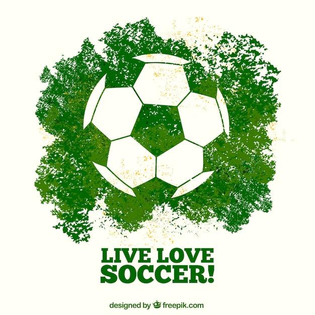 Fondo de juego de fútbol con balón Vector Premium