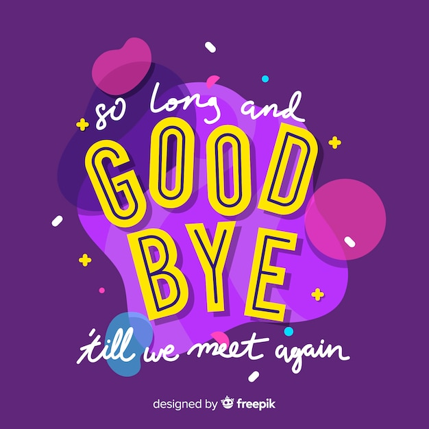Fondo letras goodbye | Vector Gratis