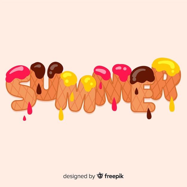 Fondo lettering verano vector gratuito