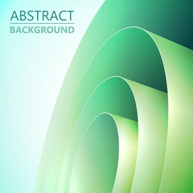 Fondo limpio claro abstracto con bobina de papel de embalaje enrollado verde vector gratuito