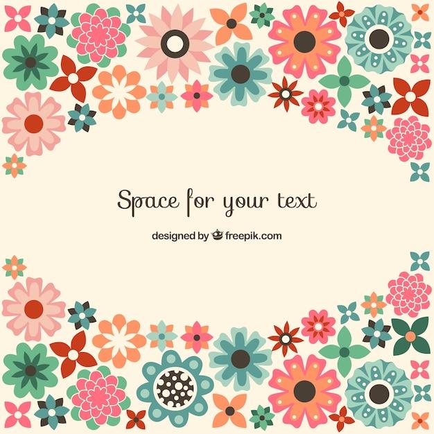 Fondo Lindo De Flores De Colores Descargar Vectores Gratis