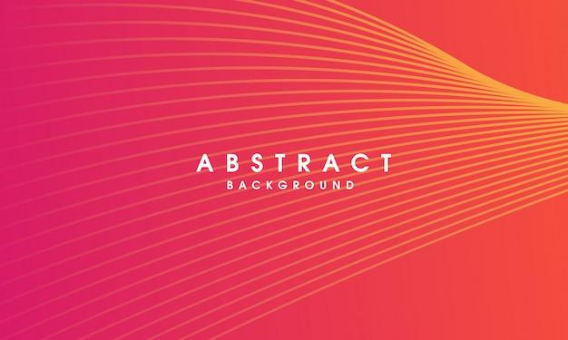 Fondo de línea colorida vector abstracto Vector Premium