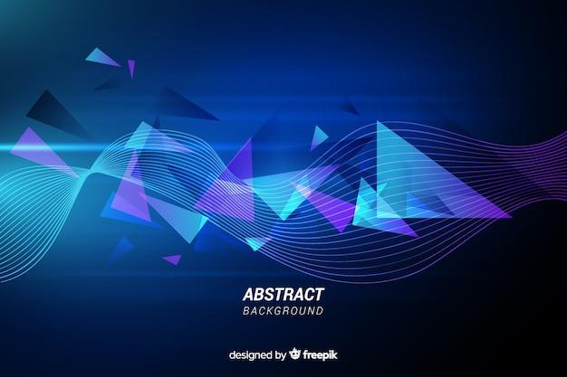 Fondo de líneas abstractas con triángulos vector gratuito