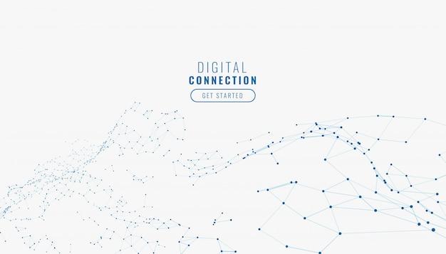 Fondo de líneas de conexión de red digital blanco abstracto vector gratuito