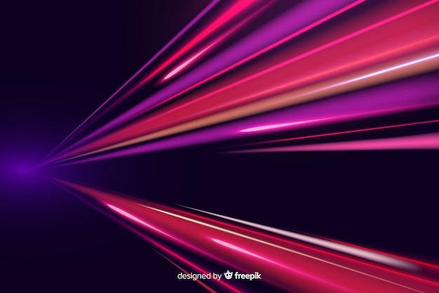 Fondo con líneas luminosas vector gratuito