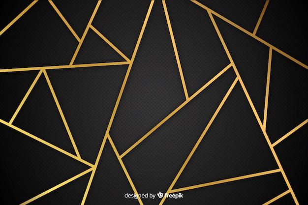 Fondo líneas de oro vector gratuito