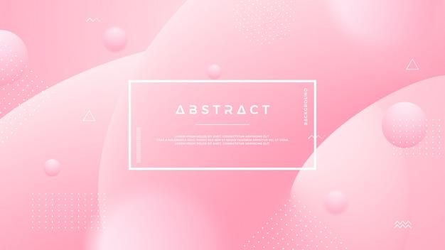 Fondo líquido abstracto rosa claro. Vector Premium