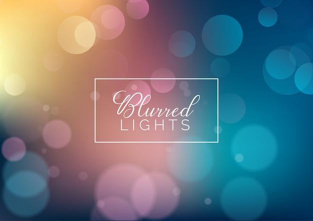 Fondo de luces borrosas vector gratuito