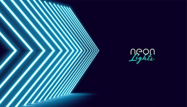 Fondo de luces de flecha direccional neperspectiva vector gratuito