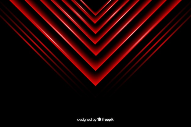 Fondo de luces geométricas triángulo rojo vector gratuito