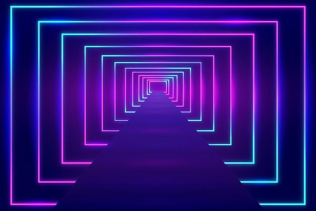 Fondo de luces de neón luminiscentes vector gratuito