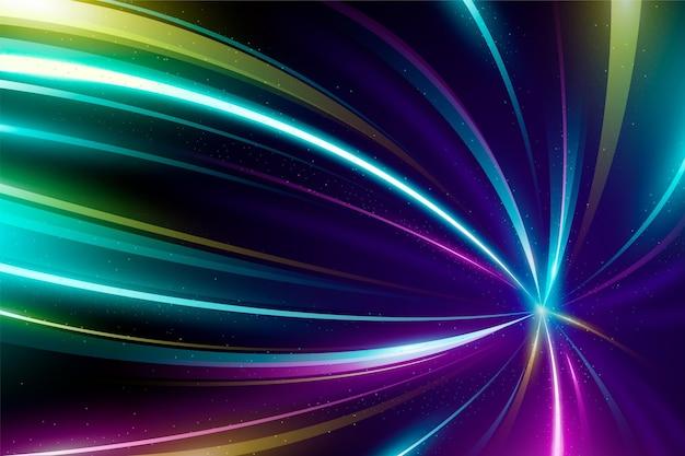 Fondo de luces de neón multicolor vector gratuito