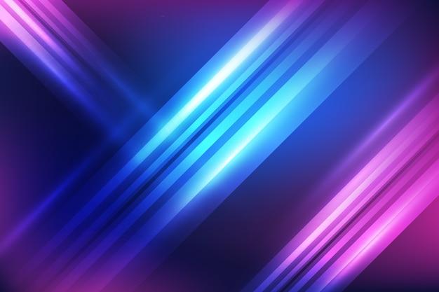Fondo de luces de neón Vector Premium
