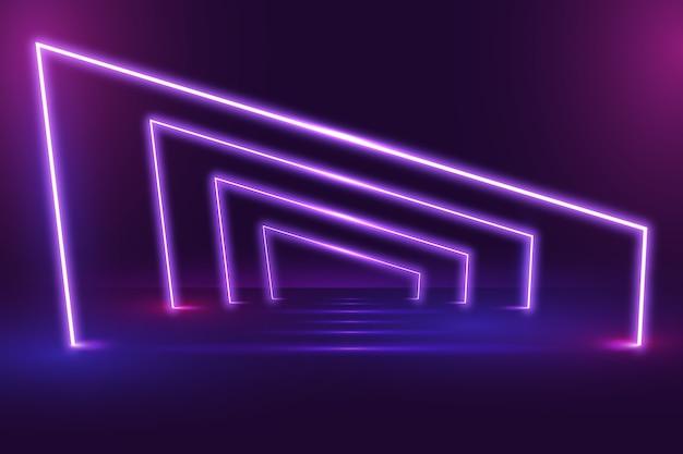 Fondo de luces de neón vector gratuito