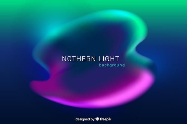 Fondo de luces del norte verde y morado vector gratuito