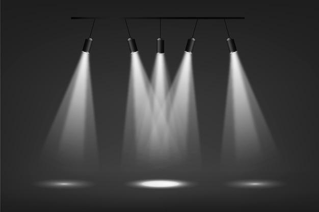 Fondo de luces puntuales vector gratuito